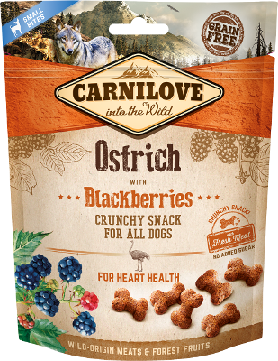 Carnilove Dog Crunchy Ostrich with Blackberries 200g
